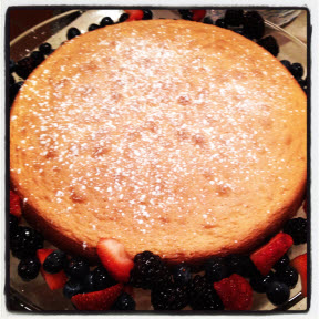 Hot water sponge cake